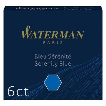 WATERMAN Etui de 6 Cartouches d'encre Mini Bleu Sérinité