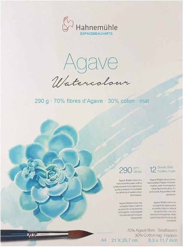 HAHNEMUHLE Agave Papier Aquarelle - Natural Line 290g/m² A4  12feuilles