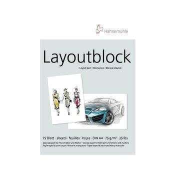 HAHNEMUHLE Bloc papier layout A4 75g 75 feuilles