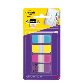 POST-IT Marque-pages Post-it® Mini Rigides couleurs vives - Lot 4 x 10