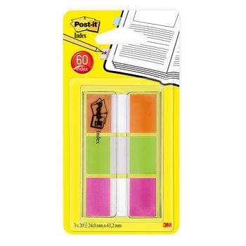 POST-IT Marque-pages Post-it® Rigides blancs liserés couleurs vives - Lot 3 x 22