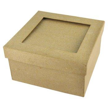 RAYHER Boite carrée 12 x 12 x 5 cm Passepartout 7,8 x 7,8 cm