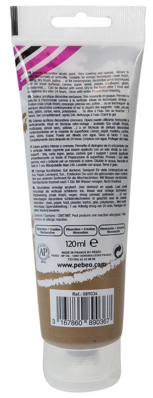 PEBEO Peinture acrylique decoCrème 120 ml - Tabac