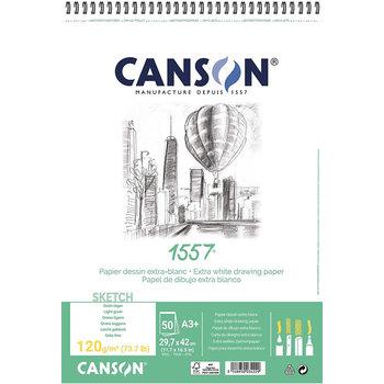 CANSON Album 50Fl Spirale 1557®  A3+ 120g Croquis