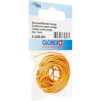 GLOREX Cordon en coton 1mm/5m orange