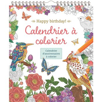 CHANTECLER Happy Birthday! Calendrier à colorier