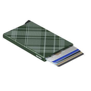 SECRID Cardprotector Laser Tartan Green