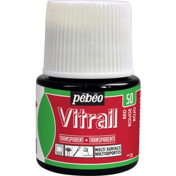 PEBEO Peinture Vitrail transparente - 45 ml - Rouge
