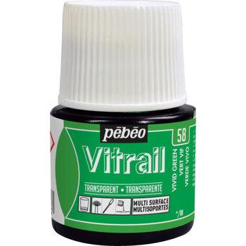 PEBEO Peinture Vitrail transparente - 45 ml - Vert vif