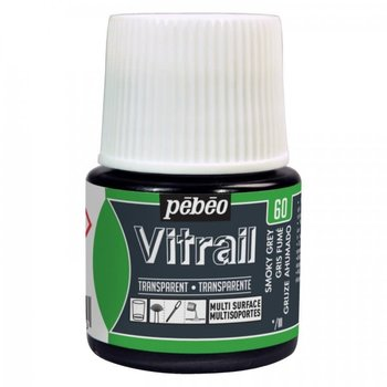 PEBEO Peinture Vitrail transparente - 45 ml - Gris fumé