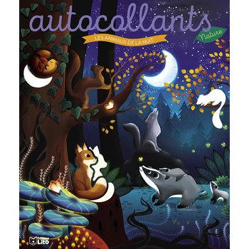 EDITIONS LITO Autocollants Nature 4 ans Les animaux de la nuit