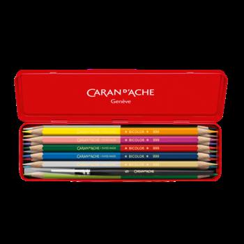 CARAN D'ACHE Boite Edition limitée Wonder Forest 12 crayons Prismalo® Bicolor aquarellables