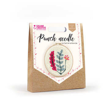 GRAINE CREATIVE Kit Punch Needle Vegetal Dia. 200Mm