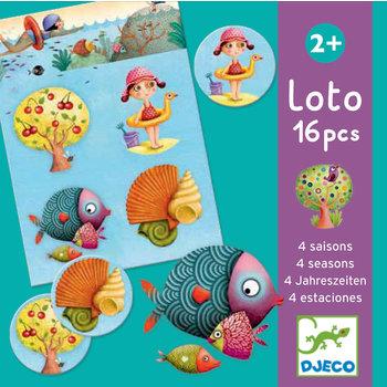 DJECO Jeux éducatifs Loto 4 saisons