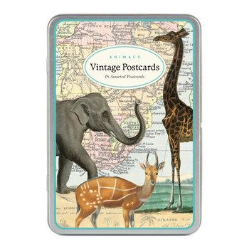 CAVALLINI Set de 18 Cartes Postales Vintage Animaux