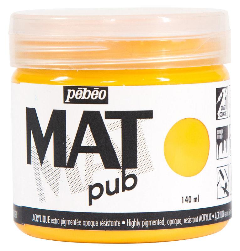PEBEO Acrylique Mat Pub 140 ml - Jaune doré