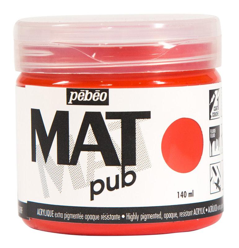 PEBEO Acrylique Mat Pub 140 ml - Rouge vermillon