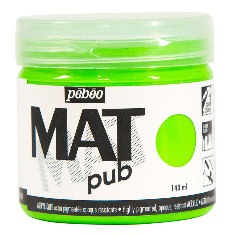 PEBEO Acrylique Mat Pub 140 ml - Vert fluo
