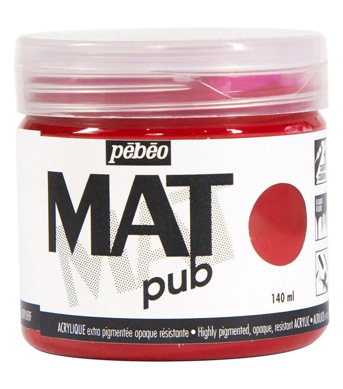 PEBEO Acrylique Mat Pub 140 ml - Rouge magenta