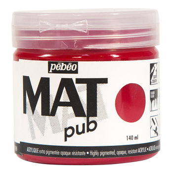 PEBEO Acrylique Mat Pub 140 ml - Rouge carmin