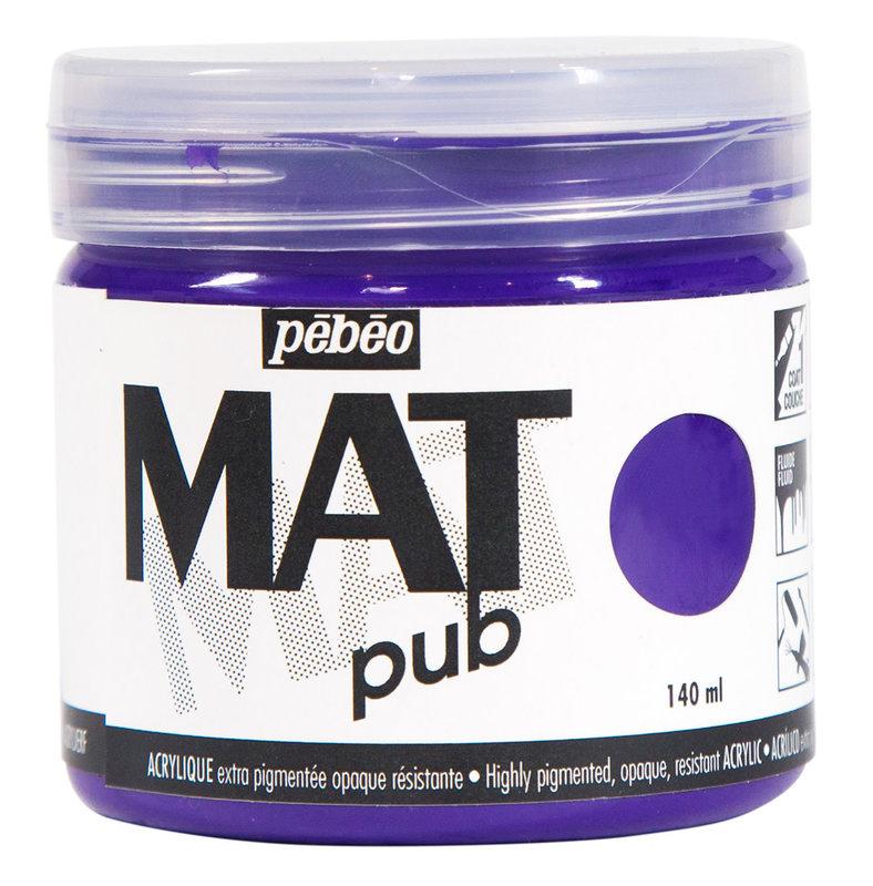 PEBEO Acrylique Mat Pub 140 ml - Violet cobalt
