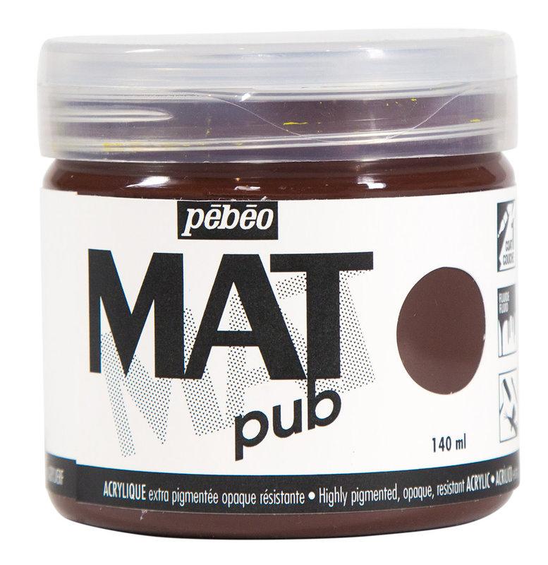 PEBEO Acrylique Mat Pub 140 ml - Ombre brulée