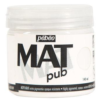 PEBEO Acrylique Mat Pub 140 ml -  Blanc permanent