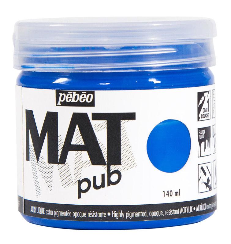 PEBEO Acrylique Mat Pub 140 ml - Bleu cyan