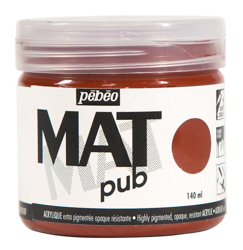 PEBEO Acrylique Mat Pub 140 ml - Sienne brulée