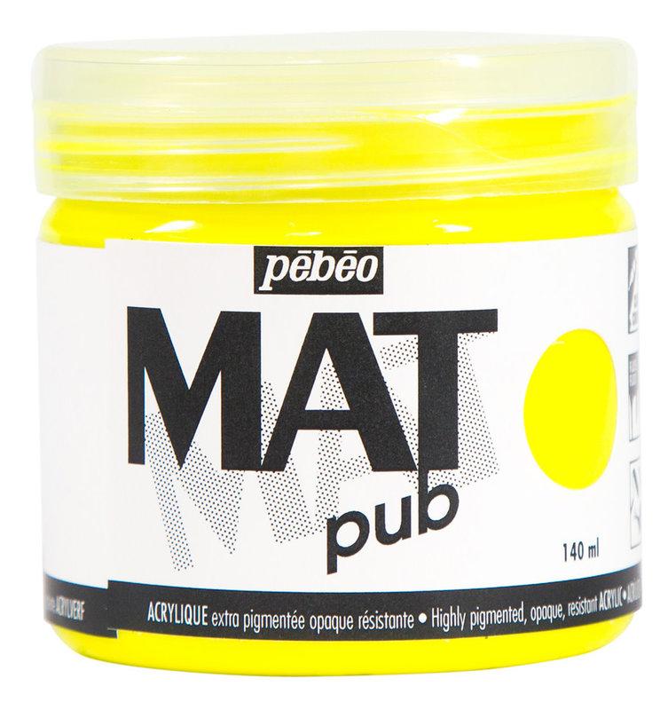 PEBEO Acrylique Mat Pub 140 ml - Jaune fluo