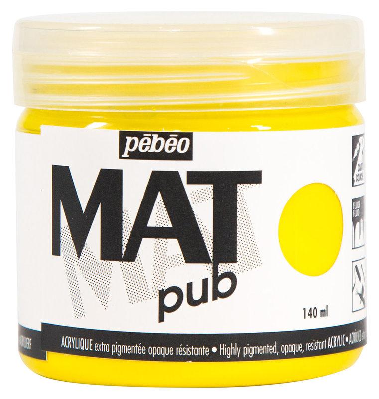 PEBEO Acrylique Mat Pub 140 ml - Jaune primaire