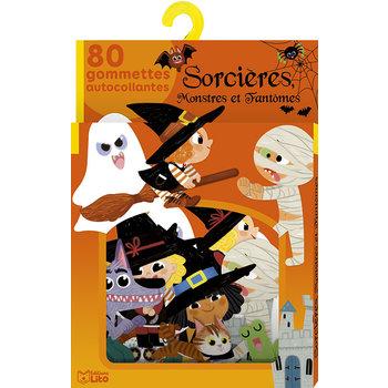 EDITIONS LITO Gommettes Sorcières, monstres et fantômes