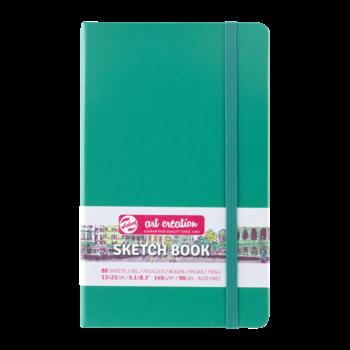 TALENS Sketchbook Pastel 13x21cm 140g 80 feuilles Vert Forêt