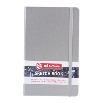 TALENS Sketchbook Pastel 13x21cm 140g 80 feuilles  Argent Brillant
