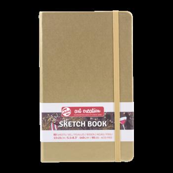 TALENS Sketchbook Pastel 13x21cm 140g 80 feuilles  Or Blanc