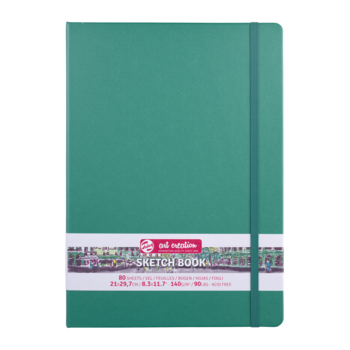 TALENS Sketchbook Pastel 21x30cm 140g 80 feuilles  Vert Forêt