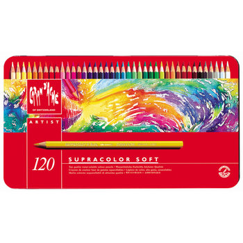 CARAN D'ACHE Supracolor Boîte métal à 120 couleurs