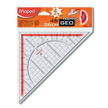 MAPED Equerre géométrique. hypoténuse 26 cm