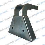 Stahl Plattekurve, für verbindung von 2 Scheren