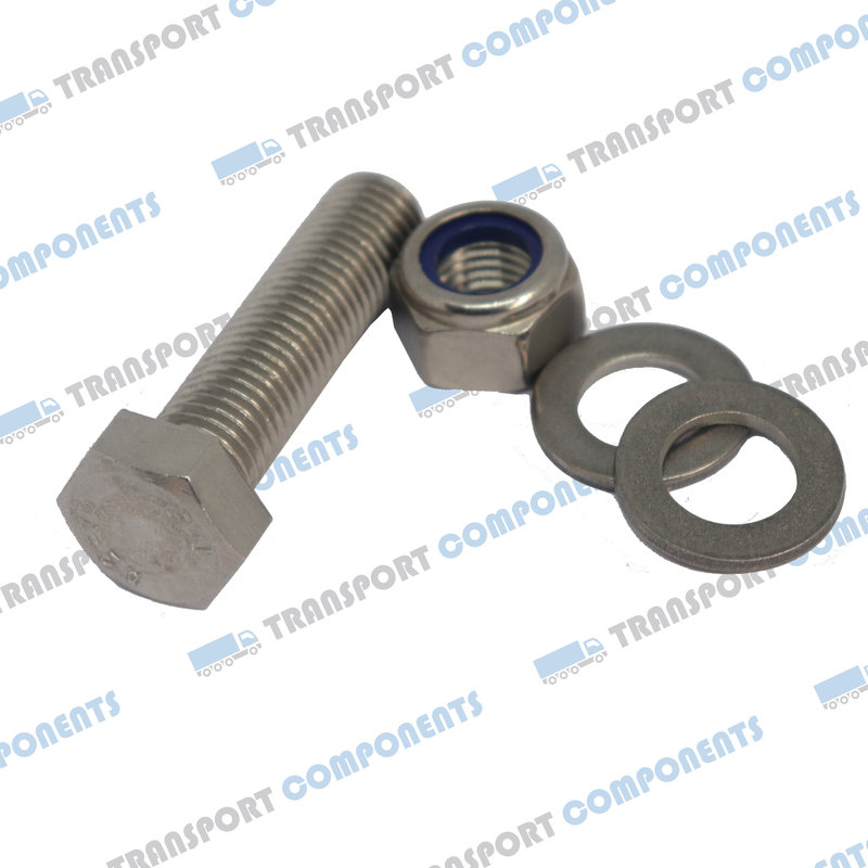 Set of 12 stainless steel bolts