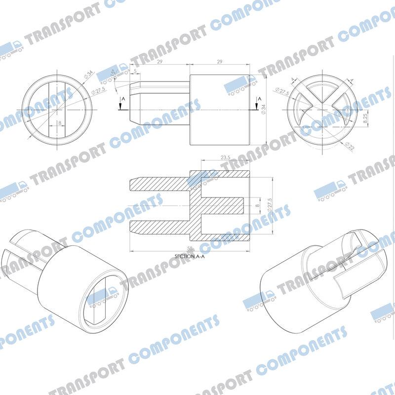 Bottom adaptor 34mm