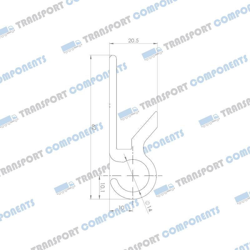 Hook profile L = 3300mm