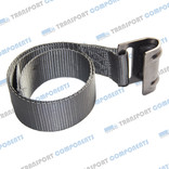 Gray band with flat stainless steel hook