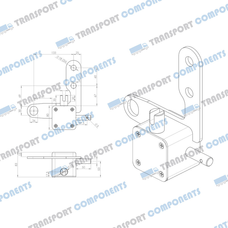 Pacton worm gearbox 80x80x80