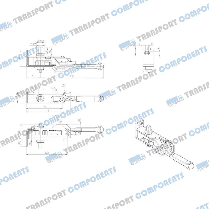 Thiriet spanner, Uitgang vierkant 12x12mm