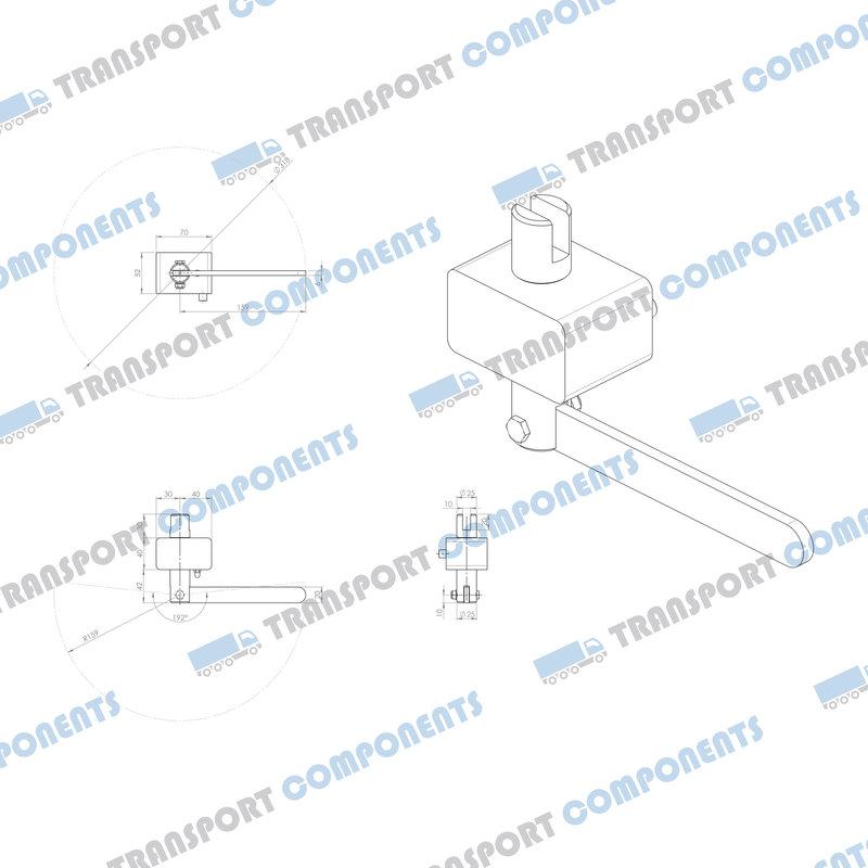 R8 spankastje tbv 34mm sleuf-adapter
