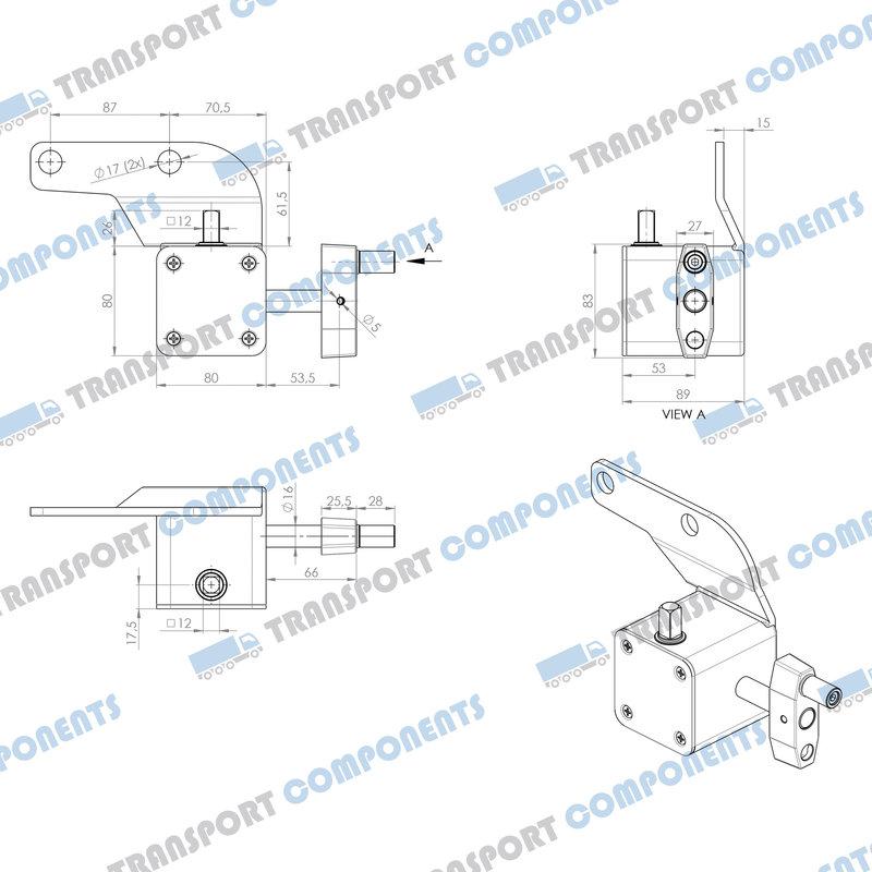 Worm gearbox 80x80x89