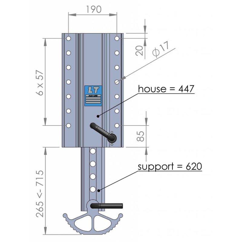 LT 447.620 | Auflieger-Fallstütze