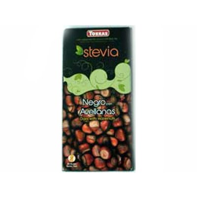 Torras Stevia Chocolade puur noten bar 1pc sugarfree