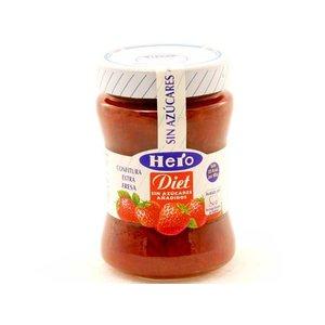 Hero Hero diet Confituur aardbei 1 pot zonder toegevoegde suikers